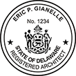 Looking for Registered Architect Professional Seal Stamps for Delaware? Shop for official Delaware architect stamps here.