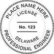 Looking for professional engineer stamps? Our Delaware professional engineer stamps are available in several mount options, check them out at the EZ Custom Stamps Store.