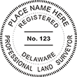 Looking for land surveyor stamps? Shop our Delaware Professional land surveyor stamp at the EZ Custom Stamps Store. Available in several mount options.