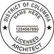 Looking for licensed architect professional seal stamps for the District of Columbia? Shop for your custom architect professional stamp here at the EZ Custom Stamps store.