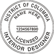 Looking for Interior designer stamps? Check out our District of Columbia registered interior designer stamp at the EZ Custom Stamps Store.