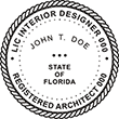 Looking for interior designer and architect stamps? Check out our Florida interior designer and registered architect stamp at the EZ Custom Stamps Store.