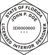 Looking for Interior designer stamps? Check out our Florida licensed interior designer stamp at the EZ Custom Stamps Store.
