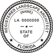 Need a landscape architect stamp? Check out our Florida registered landscape architect stamp at the EZ Custom Stamps Store. Available in various mount options.