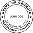 Shop for official registered architect stamps for the state of Georgia on the EZ Custom Stamps store today! Our selection of professional architect stamps is sure to suit your needs.