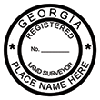 Looking for land surveyor stamps? Shop our Georgia registered land surveyor stamp at the EZ Custom Stamps Store. Available in several mount options.