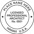Need an official Licensed Architect stamp for the state of Hawaii? Find the customized Hawaii architect stamps you need here.