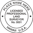 Looking for land surveyor stamps? Shop our Hawaii licensed land surveyor stamp at the EZ Custom Stamps Store. Available in several mount options.
