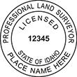 Looking for land surveyor stamps? Shop our Idaho licensed land surveyor stamp at the EZ Custom Stamps Store. Available in several mount options.