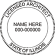 Need Licensed Architect Stamps for Illinois? Shop for official Illinois architect stamps here at the EZOP Custom Stamps store.