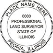 Looking for land surveyor stamps? Shop our Illinois professional land surveyor stamp at the EZ Custom Stamps Store. Available in several mount options.