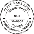 Looking for professional engineer stamps? Our Indiana professional engineer stamps are available in several mount options, check them out at the EZ Custom Stamps Store.