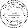 Looking for land surveyor stamps? Shop our Indiana registered land surveyor stamp at the EZ Custom Stamps Store. Available in several mount options.