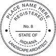 Need a landscape architect stamp? Check out our Indiana registered landscape architect stamp at the EZ Custom Stamps Store. Available in various mount options.