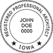 Are you a registered architect in Iowa? Shop for professional architect stamps for the state of Iowa in our store today.