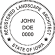 Need a landscape architect stamp? Check out our Iowa registered landscape architect stamp at the EZ Custom Stamps Store. Available in various mount options.