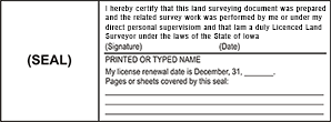 Looking for land surveyor stamps? Shop this Iowa licensed land surveyor seal at the EZ Custom Stamps Store. Available in several mount options.
