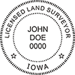 Looking for land surveyor stamps? Shop our Iowa licensed land surveyor stamp at the EZ Custom Stamps Store. Available in several mount options.