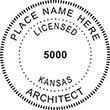 Need licensed architect stamps for Kansas? Shop Official Kansas Licensed Architect Professional Stamps here at EZ Custom Stamp Shop.