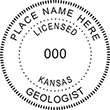 Need a professional geologist stamp in Kansas? Create your own custom geologist stamp on the EZ Custom Stamps Store today!