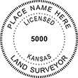 Looking for land surveyor stamps? Shop our Kansas licensed land surveyor stamp at the EZ Custom Stamps Store. Available in several mount options.