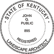 Need a landscape architect stamp? Shop a Kentucky registered landscape architect stamp at the EZ Custom Stamps Store. Available in various mount options.
