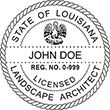 Need a landscape architect stamp? Check out our Louisiana licensed landscape architect stamp at the EZ Custom Stamps Store. Available in various mount options.