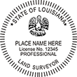 Looking for land surveyor stamps? Shop our Louisiana professional land surveyor stamp at the EZ Custom Stamps Store. Available in several mount options.