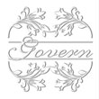 Monogram name embosser with a floral border and underlined name. Shop now at EZ Custom Stamps | (608) 310-4300