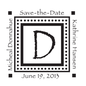 Looking for monogram stamps? Check out our fully customizable decorative square polka dot border monogram stamp at the EZ Custom Stamps Store.