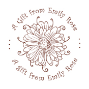 """Customize your next present with this Daisy """"A Gift from"""" monogram stamp. Your gift recipients will love the extra thought you put into their present! EZ Custom Stamps 