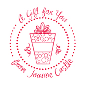 """Looking for a custom monogram stamp? Shop this """"A Gift for You"""" customizable stamp featuring your name and a color of your choice."""
