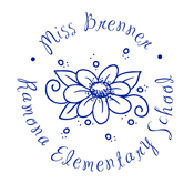 Customize this floral monogram to fit your name and organization for a a fun custom stamp. EZ Office Products | (608) 310-4300