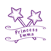 Looking for a custom monogram stamp? Shop this personalized princess stamp designed with your chosen text and color of choice.