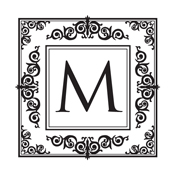 Need a decorative initial monogram stamp? Shop this ornate square border stamp that comes with your initial in a color of your choice.