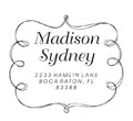 Cute sketch style monogram stamp. Customize as an address stamp also at EZ Custom Stamps | (608) 310-4300