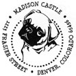 Pug address stamp is customizable to include your name and address. Customize now at EZ Custom Stamps | (608) 310-4300