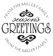 Wish your friends and family a wonderful holiday season with this custom seasons greetings monogram. Customize with your family name at EZ Custom Stamps | (608) 310-4300