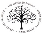 Family tree monogram stamp, customizable to include your home address and family name. EZ Custom Stamps  | (608) 310-4300